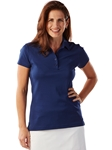 Summer Navy Solid Supreme Cotton Short Sleeve Women Polo Shirt | Bobby Jones Women's Polos | Sam's Tailoring Fine Women's Clothing