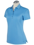 Sky Blue Solid Supreme Cotton Short Sleeve Women Polo Shirt | Bobby Jones Women's Polos | Sam's Tailoring Fine Women's Clothing