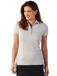 Heather Grey Supreme Cotton Short Sleeve Women Polo Shirt | Bobby Jones Women's Polos | Sam's Tailoring Fine Women's Clothing