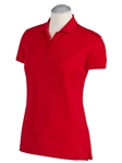 Cambridge Red Supreme Cotton Short Sleeve Women Polo Shirt | Bobby Jones Women's Polos | Sam's Tailoring Fine Women's Clothing