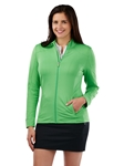 Turf Tech Solid Full Zip Women's Knit Jacket | Bobby Jones Women's Pullovers | Sam's Tailoring Fine Women's Clothing