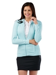 Blue Breeze Tech Solid Full Zip Women's Knit Jacket | Bobby Jones Women's Pullovers | Sam's Tailoring Fine Women's Clothing