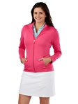Flamingo Tech Solid Full Zip Women's Knit Jacket | Bobby Jones Women's Pullovers | Sam's Tailoring Fine Women's Clothing