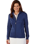 Summer Navy Tech Solid Full Zip Women's Knit Jacket | Bobby Jones Women's Pullovers | Sam's Tailoring Fine Women's Clothing