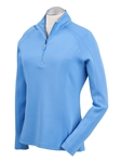 Sky Blue Madeleine Quarterzip Women's Tech Pullover | Bobby Jones Women's Pullovers | Sam's Tailoring Fine Women's Clothing
