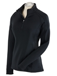 Black Madeleine Quarterzip Women Tech Pullover | Bobby Jones Women's Pullovers | Sam's Tailoring Fine Women's Clothing