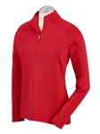 Cambridge Red Madeleine Quarterzip Women Tech Pullover | Bobby Jones Women's Pullovers | Sam's Tailoring Fine Women's Clothing