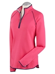 Flamingo Pima Cotton Solid Quarter Zip Women's Pullover | Bobby Jones Women's Pullovers | Sam's Tailoring Fine Women's Clothing