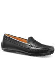 Black Leather With White Topstitch Leather Women Shoe | Samuel Hubbard Women Shoes | Sam's Tailoring Fine Men Clothing
