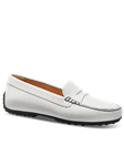 White Leather With Black Sole Women's Shoe | Samuel Hubbard Women Shoes | Sam's Tailoring Fine Men Clothing