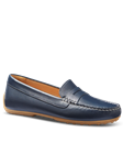 Navy Leather Hand Crafted Women's Shoe | Samuel Hubbard Women Shoes | Sam's Tailoring Fine Men Clothing