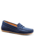 Stonewashed Blue Suede Hand Crafted Women Shoe | Samuel Hubbard Women Shoes | Sam's Tailoring Fine Men Clothing