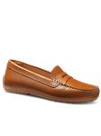 Luggage Tan Leather Handcrafted Women Shoe | Samuel Hubbard Women Shoes | Sam's Tailoring Fine Men Clothing