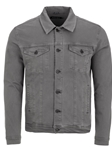 Charcoal Stylish Shirt Collar Men's Trucker Jacket | Stone Rose Jackets Collection | Sams Tailoring Fine Men Clothing