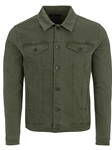 Olive Stylish Shirt Collar Men's Trucker Jacket | Stone Rose Jackets Collection | Sams Tailoring Fine Men Clothing