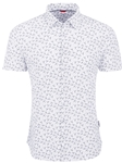 White Dragonfly Performance Knit Short Sleeve Shirt | Stone Rose Shirts Collection | Sams Tailoring Fine Men Clothing