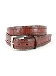 Brown/Cognac Two-Tone South American Caiman Belt | Torino Leather Belts | Sam's Tailoring Fine Men Clothing