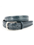Navy/Blue Jean Two-Tone South American Caiman Belt | Torino Leather Belts | Sam's Tailoring Fine Men Clothing
