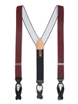 Burgundy Maddox Convertible Big & Tall Brace | Trafalgar Braces Collection | Sams Tailoring Fine Men's Clothing