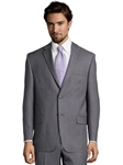 Grey Wool Sharkskin Center Vent Suit Jacket | Palm Beach Wool Collection | Sam's Tailoring Fine Men Clothing