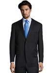 Black Wool Plain Notch Lapel Suit Jacket | Palm Beach Wool Collection | Sam's Tailoring Fine Men Clothing