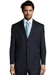 Navy Wool Plain Notch Lapel Suit Jacket | Palm Beach Wool Collection | Sam's Tailoring Fine Men Clothing