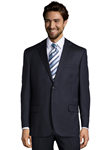 Navy Wool Stripe Center Vent Suit Jacket | Palm Beach Wool Collection | Sam's Tailoring Fine Men Clothing