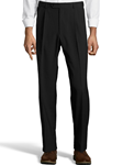 Black Wool/Poly Pleated Expander Men Pant | Palm Beach Dress Pants | Sam's Tailoring Fine Men's Clothing