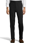 Black Wool/Poly Flat Front Expander Pant | Palm Beach Dress Pants | Sam's Tailoring Fine Men's Clothing