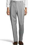 Grey Gabardine Pleated Wool Men's Pant | Palm Beach Dress Pants | Sam's Tailoring Fine Men's Clothing