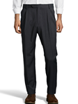 Charcoal Gabardine Pleated Wool Men's Pant | Palm Beach Dress Pants | Sam's Tailoring Fine Men's Clothing