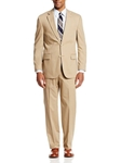 Boone Khaki Poplin Two Button Center Vent Suit | Palm Beach Seasonal Suits & Pants | Sam's Tailoring Fine Men's Clothing