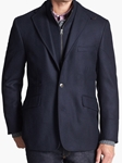 Navy Side Vent Wool Cashmere Ritchie Sport Coat | Kroon Hybrid Sport Coats | Sam's Tailoring Fine Men's Clothing
