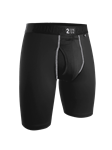 Black 9 Inch Power Shift Long Leg Underwear | 2Undr Long Leg Underwear | Sam's Tailoring Fine Men Clothing
