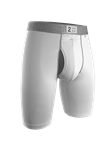 White 9 Inch Power Shift Long Leg Underwear | 2Undr Long Leg Underwear | Sam's Tailoring Fine Men Clothing