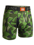 Green Camo 6 Inch Power Shift Boxer Brief | 2Undr Boxer Brief | Sam's Tailoring Fine Men Clothing