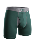 Dark Green Power Shift 6 Inch Brief Boxer | 2Undr Boxer Brief | Sam's Tailoring Fine Men Clothing