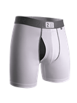 White Power Shift 6 Inch Brief Boxer | 2Undr Boxer Brief | Sam's Tailoring Fine Men Clothing
