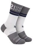 White/Grey/Navy Sport Crew Sock | 2Undr Accessories | Sam's Tailoring Fine Men's Clothing