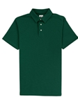 Forest Green Lightweight Pique Straight Collar Pioneer Polo | Vastrm Polo Shirts | Sam's Tailoring Fine Men Clothing