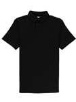 Black Lightweight Pique Straight Collar Pioneer Polo | Vastrm Polo Shirts | Sam's Tailoring Fine Men Clothing