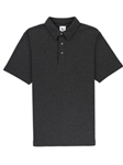 Charcoal Heather Grey Comfort Pique Rosewood Polo | Vastrm Polo Shirts | Sam's Tailoring Fine Men Clothing