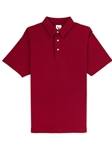 Merlot Red Comfort Pique Men's Rosewood Polo | Vastrm Polo Shirts | Sam's Tailoring Fine Men Clothing