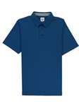 Blue Lightweight Pique Straight Collar Hampton Polo | Vastrm Polo Shirts | Sam's Tailoring Fine Men Clothing