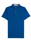 Royal Blue Comfort Pique Men's Solomeo Polo | Vastrm Polo Shirts | Sam's Tailoring Fine Men Clothing