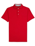 Red Comfort Pique Spread Collar Solomeo Polo | Vastrm Polo Shirts | Sam's Tailoring Fine Men Clothing