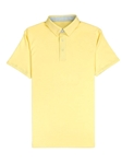 Spring Yellow Interlock Fabric Men's Miami Polo | Vastrm Polo Shirts | Sam's Tailoring Fine Men Clothing
