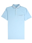 Light Blue Lightweight Pique Men's Clubhouse Polo | Vastrm Polo Shirts | Sam's Tailoring Fine Men Clothing