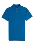 Blue Lightweight Pique Men's Tennis Club Polo | Vastrm Polo Shirts | Sam's Tailoring Fine Men Clothing