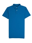 Bright Blue Blue Lightweight Pique Tennis Club Polo | Vastrm Polo Shirts | Sam's Tailoring Fine Men Clothing